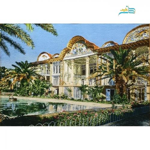 تابلو فرش طرح باغ ارم شیراز