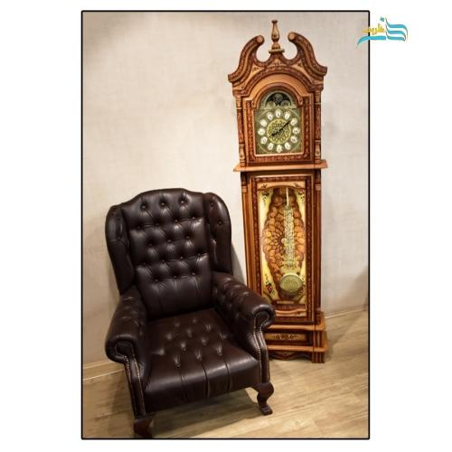 ساعت پدربزرگ چرمی (ساعت ایستاده)