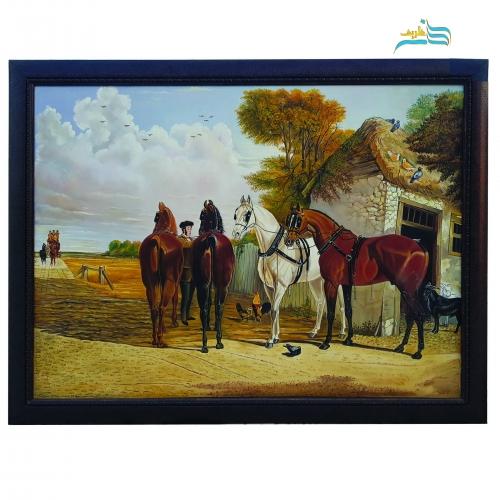 تابلو نقاشی رنگ روغن طرح اسب