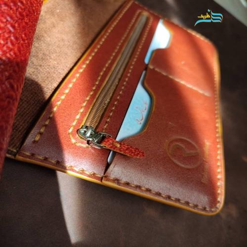 ست زیبای کیف مردانه، گاردگوشی و جاکلیدی چرمی کروکدیلی