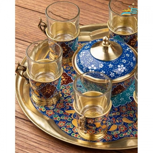 سماور و چایخوری برنجی