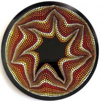 بشقاب شیشه ایی نقطه کوبی دیوارکوب ستاره دریایی