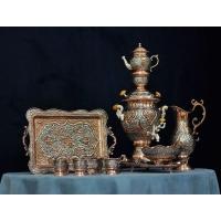 سرویس سماور و چای خوری قلم زنی