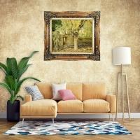 تابلو فرش طرح باغ توت