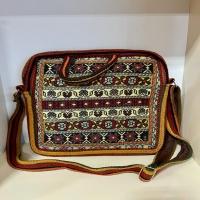 کیف دوشی کوچک تمام گلیمی دستبافت سیرجان