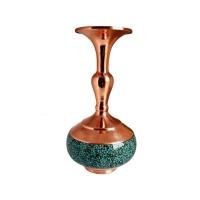 گلدان فیروزه کوبی مدل شلغمی کد ۱۰۱۷